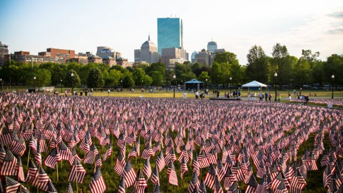 Boston Common for Memorial Day